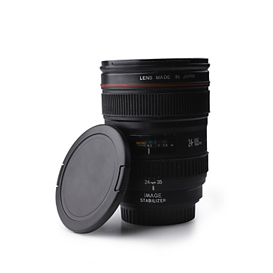 Benzersiz simülasyon kamera lensi tarzı 350ml plastik kahve kupa bardak