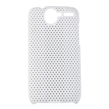 Mesh Hard Back Cover Case for HTC Desier HD White