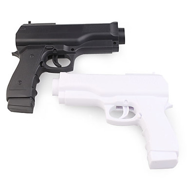 Pair of Hand Gun Controllers for Wii/Wii U Remote (Black/White)