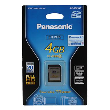4 GB de Panasonic Tarjeta de memoria SDHC (clase 4)