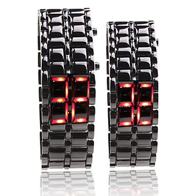 black metal striscia digitale lava stile ferro sport paio led rosso guardare senza volto da polso