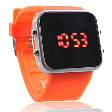 Sportigt LED-ur med Fyrkantig Urtavla - Orange