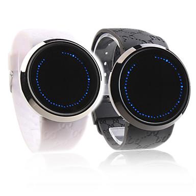 Coppia di orologi LED (blu) Touchscreen, con cinturino in silicone