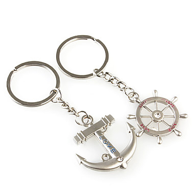 Keychain Jewelry Silver Anchor Alloy Fashion Birthday Gift