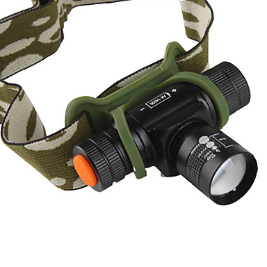 Headlamps LED 160lm lm 3 Mode Cree XR-E Q5 with Charger Zoomable Rechargeable Small Size Cycling / Bike