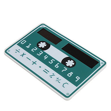 NEW Mini Slim Credit Card Solar Power Pocket Calculator - Dark Green