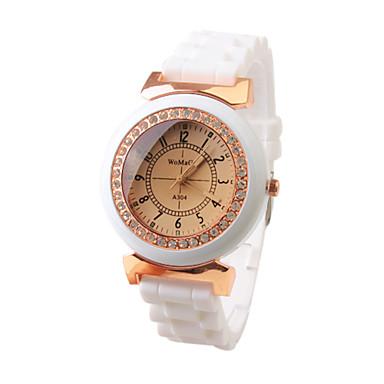 Dames Dress horloge Modieus horloge Japans Kwarts Band Vintage Wit