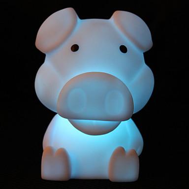 schillernden bunten LED-Licht Tier mit Kind Geld sparen Bank Funktion