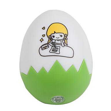 0,1 Вт в форме яйца энергосбережения ночника (зеленый) сп-562