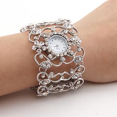 Kadın's Bilek Saati Japonca Quartz Gündelik Saatler Alaşım Bant Analog Işıltılı Halhal Moda Gümüş - Gümüş Bir yıl Pil Ömrü / SSUO SR626SW
