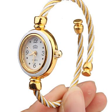 Жен. Модные часы Часы-браслет Кварцевый сплав Группа Кольцеобразный Elegant Белый