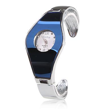 Bayanların Moda Saat Bilek Saati Bilezik Saat Quartz Bant Halhal Gümüş Mavi