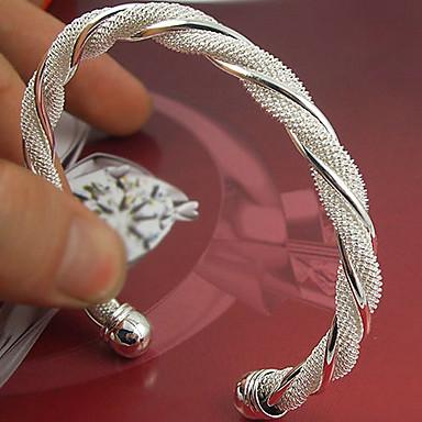 Kadın's - Som Gümüş Kol Düğmesi Bilezikler Gümüş Uyumluluk Düğün Parti Özel Anlar