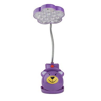 Flower Shaped Clip-ON Rechargeable Table Lamp (Color Assorted)