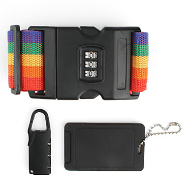 3 in 1 Laggage Tag, Pad Lock, and Luggage Strap