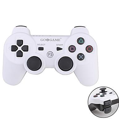 goigame ασύρματο διχρωμία controller για το PS3 (λευκό + μαύρο)