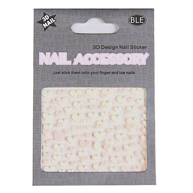 6x 3D Design Nail Art Sticker Tip Decal Manicure