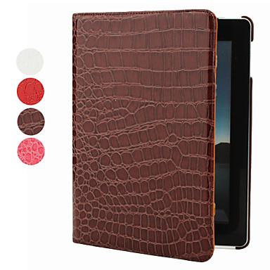 Etui Til iPad 4/3/2 med stativ 360° rotasjon Heldekkende etui Helfarge PU Leather til