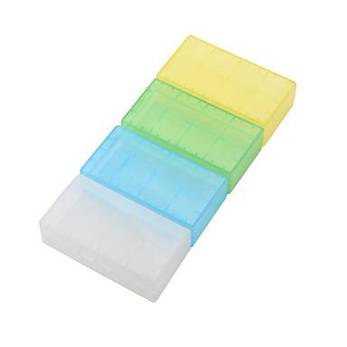 étanche boîtier en plastique translucide pour 18650,16340 batterie (4 pack, couleur aléatoire)