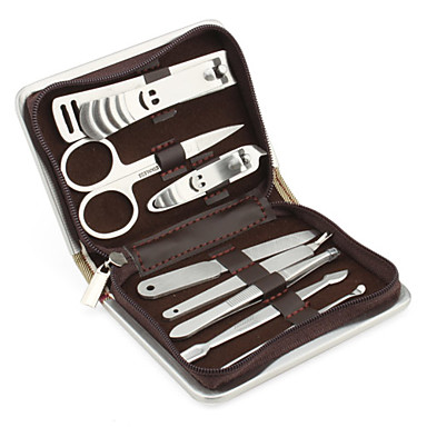 Stainless Steel Manicure Kit (8PCS,Strip)