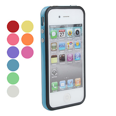 Custodia anti-urto in silicone per iPhone 4/4S - Colori assortiti