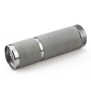 mini-1-mode 9 LED Flashlight (3x10440, argent)