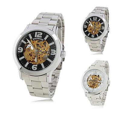 Men's Alloy Analog Mechanical Wrist Watch (Silver)
