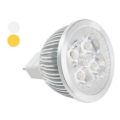 Faretti 4 LED ad alta intesità MR16 GU5.3 4 W 360 LM Bianco caldo / Luce fredda DC 12 V