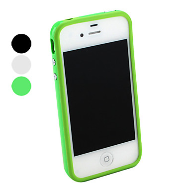 Case For iPhone 4/4S Bumper Solid Color Soft TPU for