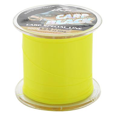 monofilamento resistente a la abrasión línea de pesca (300 metros de largo, de color amarillo 12.3kg,)