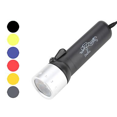 Torche de plongée LED 180lm 1 Mode d'Eclairage avec Piles Imperméable Plongée / Plaisance Jaune / Rouge / Bleu