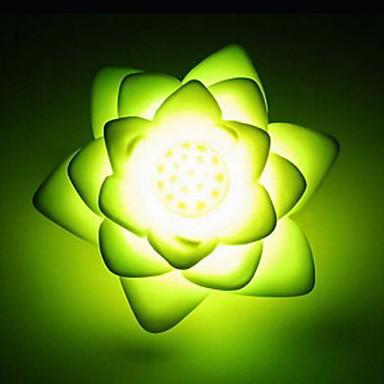önskar lotusformade ledde nattlampa (slumpvis färg)