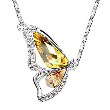 나비 모양의 디자인 크리스탈 목걸이