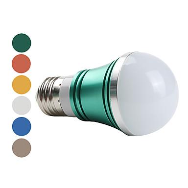 E27 3W 270lm 6000-6500K naturligt hvidt lys førte bolden pære (85-265V, assorterede farver)