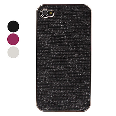 Electroplating Lines Style Case for iPhone 4 and 4S (Assorted Colors)