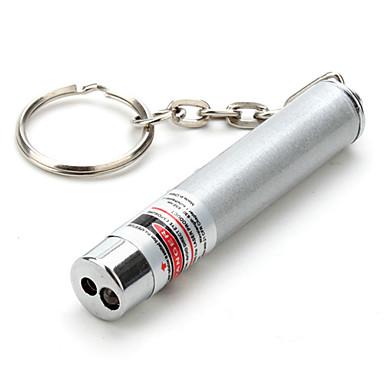 Schlüsselanhänger geformt laserpointer aluminiumlegierung 0,5 mw 635nm-670nm für im freien 5,4 * 0,9 * 0,9 cm