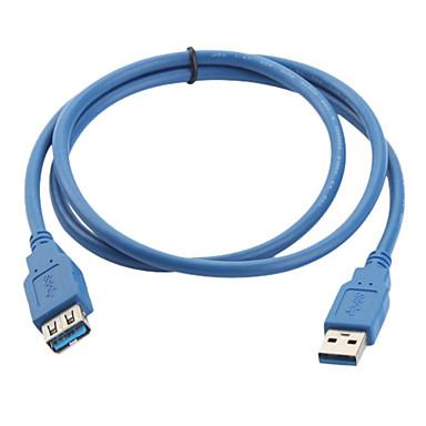 USB 3.0 mâle à femelle câble d'extension aa (1m, bleu)