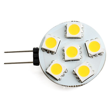 billige Bulk LED lamper-1 W LED-spotlys 150 lm G4 6 LED Perler SMD 5050 Varm hvid 12 V / #