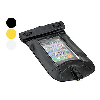 Transparent PVC Waterproof Pouch with Armband and Strap for iPhone 4, 4S and Samsung i9220 (15m, Assorted Colors)