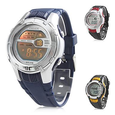 för män multifunktionella digitala gummiband armbandsur (blandade färger)