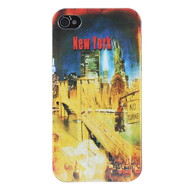 Bridge Pattern Hard Case for iPhone 4 and 4S (Yellow)