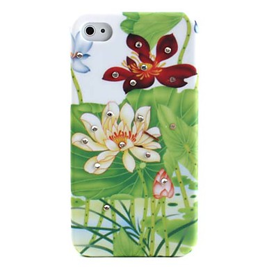 Lily Pond Pattern Ultra Thin Hard Case for iPhone 4 and 4S