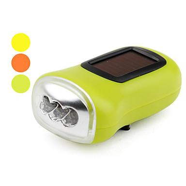 1-mode 3-ledede lommelykt (solar / dynamo-drevet, diverse farger)