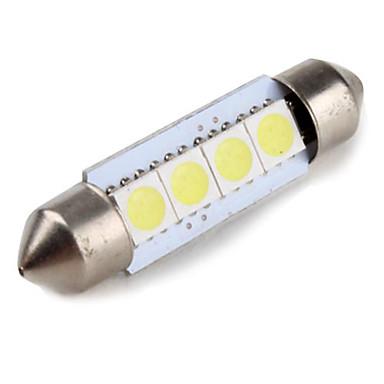 39mm 1W 4x5050 SMD White Light Festoon LED Bulb for Car Reading Lamp (12V)