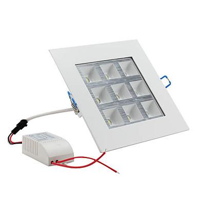 led tavan ışıkları 9 yüksek güç açtı 1000lm doğal beyaz 6000k ac 85-265v