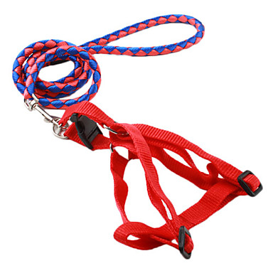 Nylon Dog Harness Kit with 120CM Braided Leash (S-L, Assorted Colors)