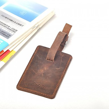 Travel Luggage Leather Tag