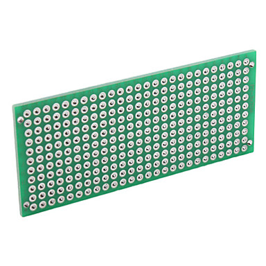 Universal 3 x 7cm DIY Double-Sided Glass Fiber Breadboard-Green (5-Piece Pack)