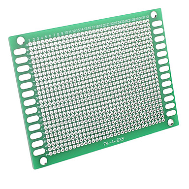 6 x 8cm Universal DIY Double-Sided Glass Fiber Board-Green