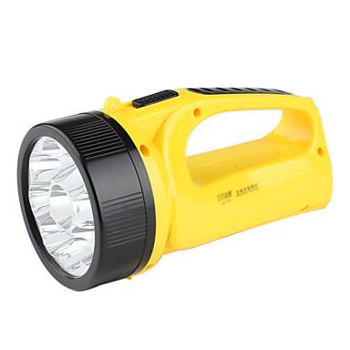 dp led-710a oppladbare 2-modus camping 9-ledede lanterne lys set (ac lader, gul)